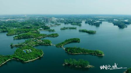 航拍简阳三岔湖不一样的美!