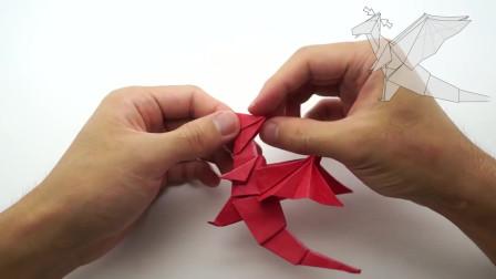 Origami Dragon (Jo Nakashima)有趣的折纸龙给你的爱人或孩子的礼物