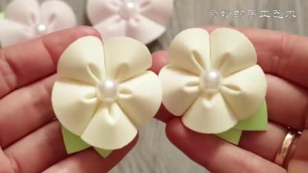 清新花朵发卡,日式风情,有人学会了吗?