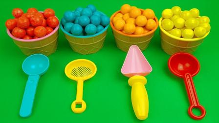 趣味彩虹豆豆冰淇淋魔力72变,比起太空沙冰淇淋你更喜欢哪个?
