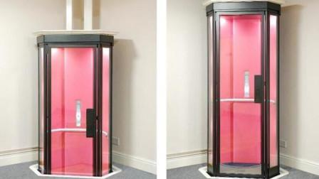 老外发明迷你家庭小电梯,方便老人上下楼!网友:我是差房子!