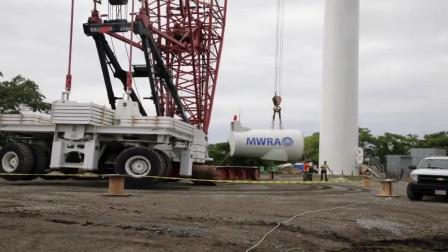 大型风力发电机安装工程,我只能用震撼形容了,场面太霸气了
