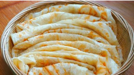 最快速葱油饼的做法,不烫面不饧面,外酥里软,30秒出锅凉了不硬