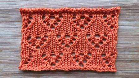 一款简洁的镂空花样,外弧像花瓶,织开衫很漂亮编织法视频
