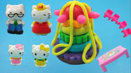 灵犀小乐园之美食小能手 凯蒂猫一家外出旅行,DIY多层蛋糕庆祝