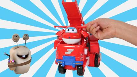 超级飞侠 乐迪超大变形机器人玩具