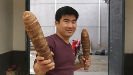 刘罗锅不给乾隆吃的荔浦芋头,农村小伙吃上了,味道让人失望