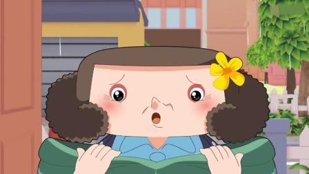 棉花糖:突然有个人现在门口,原来是奶奶穿着雨衣站在门口!