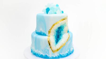 手把手教你DIY高颜值钻石水晶蛋糕,原来用冰糖就能制作!