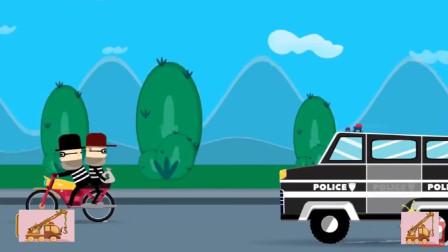 防火防盗,警车出动抓捕骑摩托车的江洋大盗!游戏