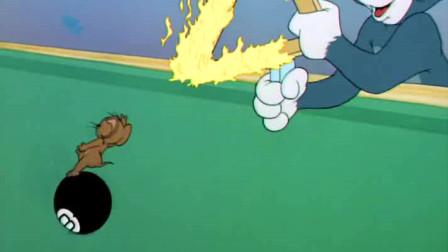 猫和老鼠:汤姆戏弄杰瑞,把他当球打,不料却惹祸上身了!