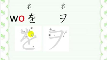 日语基础知识学习,五十音图,平假名与片假名29