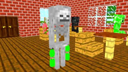 我的世界动画-怪物学院-翻水瓶-PUBA