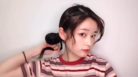 """适合春夏约会低丸子头,随意慵懒发型,一种""""凌乱""""美!"""