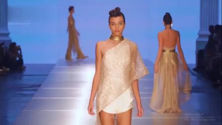 Carolina Estefan纽约春夏时装秀,华丽精致,模特看上去光彩照人!