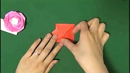 怎么做纸花 折纸玫瑰 折纸花 最简单的玫瑰花、蔷薇折法
