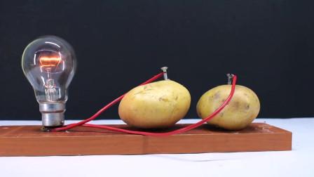 让人摸不着头脑,用土豆居然还能发电?点亮灯泡瞬间我信了