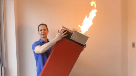 老外打造超大号打火机,喷出的火焰就有1米长,你敢用吗