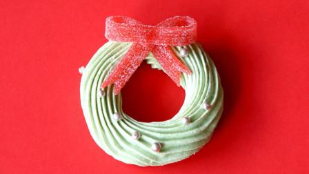 圣诞风 红色蝴蝶结装饰 蛋糖脆皮环