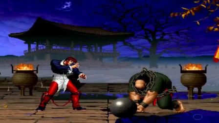 拳皇乱斗:八神VS大猪,800斤大猪被拳皇大佬花式吊打80秒