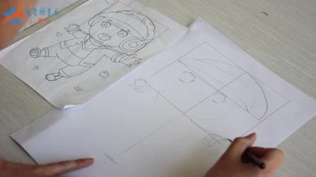 张老师美术小课堂:第二节课讲素描入门,卡通动漫人物画身子