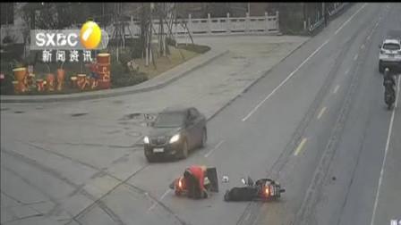 安康汉阴:村妇无证驾驶套牌车辆 肇事后淡定弃车逃逸