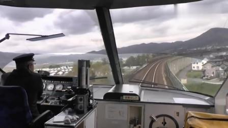火车第一视角,没想到火车的速度这么快,驾驶员心理素质就是好