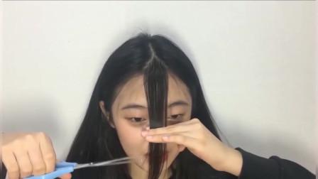 学生妹剪个空气刘海后,气质飙升,直接逆袭成校花