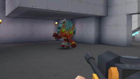 迷你世界:刚进游戏就被野人盯上了,眼睁睁的被打躺!