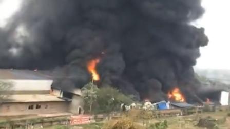 【重庆】白市驿一厂区突发大火 火势凶猛浓烟冲天