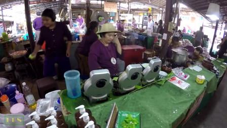 泰国美食:路边小吃,泰式椰子饼卷 !