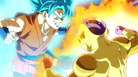 龙珠z:复活的f:黄金弗利沙果然厉害,超蓝都不是对手,比鲁斯却在一旁吃东西