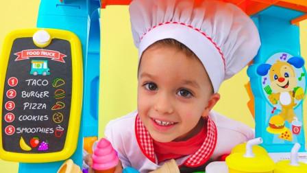 奇怪!为什么客人不要了萌宝小正太做的汉堡包呢?趣味玩具故事