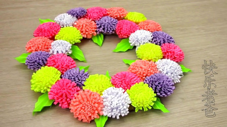 手工DIY制作漂亮的花环挂件,摆在哪里都好漂亮,在家也一样四季如春