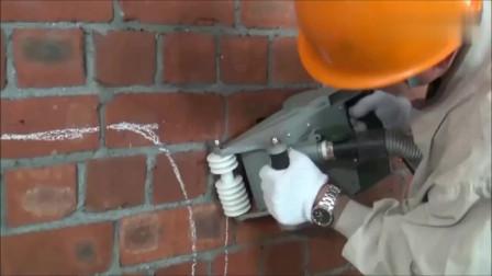 水电工的小福利,国外墙面开槽机,用过的都说好