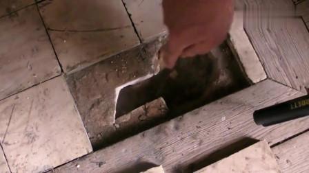 小伙发现祖宅的地板有异样,打开后被里面的东西惊呆了!
