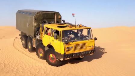 Tatra813超强越野卡车穿越沙漠,8驱简直太厉害了