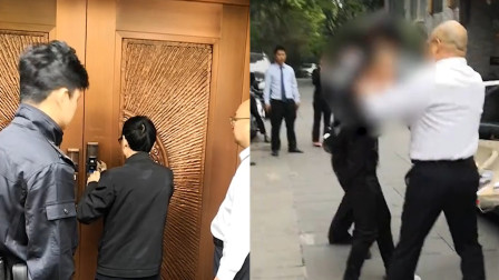 老赖欠钱不还躲在自家别墅内拒不开门 没想到干警找来开锁师傅