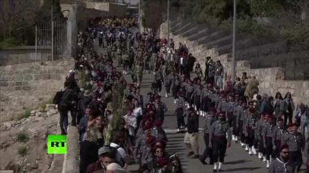数千基督徒东耶路撒冷庆祝圣枝主日
