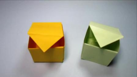 儿童手工折纸礼品盒子 2分钟轻松学会折纸立方体盒子