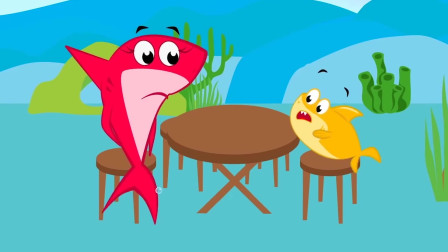 美人鱼与鲨鱼:生日快乐,鲨鱼奶奶!剑鱼带走了生日蛋糕