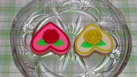 儿童玩彩泥:培乐多制作玫瑰花爱心饼干