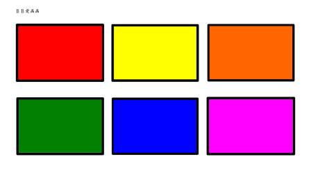 如何画长方形 然后上彩色