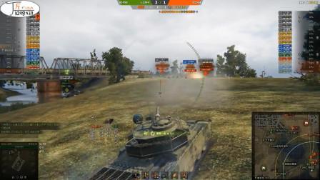 坦克世界百夫长AX卖头拿伤害甩KRV几条街?