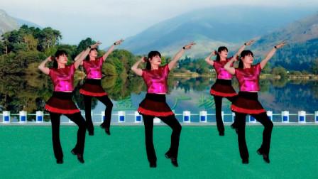 《唱一首情歌》跳一支美舞,拉拉手摆摆腰,歌曲嗨,简单跳