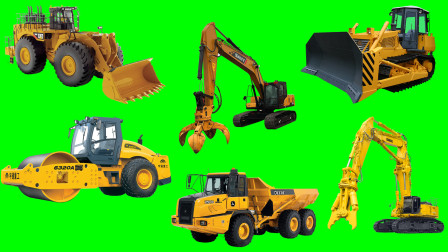 学习认识 大型压路机 大型铲车等大型工程车