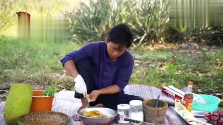 菠萝蜜烤鳗鱼,看柬埔寨这特色做法,美味的做法!