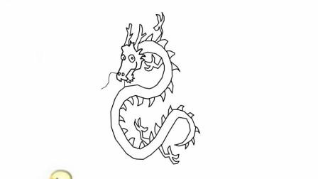 中国龙简笔画怎么画简单好看