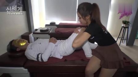 越南理发店,腿部按摩,能够消除腿部的沉重感