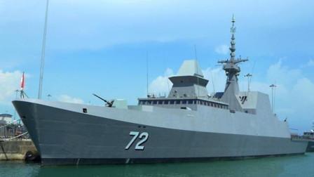 首艘外国军舰抵达青岛,堪称全球首款隐身舰